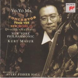 Concertos From the New World by Dvořák ,   Herbert ;   Yo‐Yo Ma ,   New York Philharmonic ,   Kurt Masur