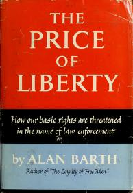 The price of liberty by Alan Barth